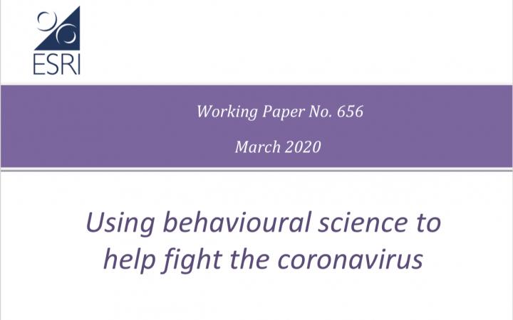 Le scienze del comportamento per combattere il coronavirus: una rassegna